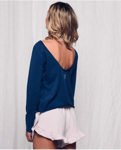 LAZY MORNING long-sleeved frill blouse